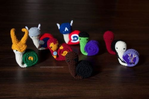 Etsy thing of the day: Snail Avengers by Fallen Designs