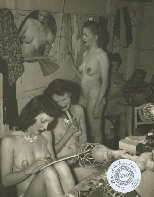 Rivoli Theater: vintage 8x10 photo of chorus girls backstage at the Rivoli Theater in Seattle, WA.