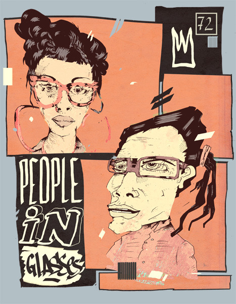 """People in glasses"""