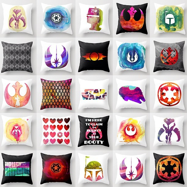Looking for some Star Wars pillows to decorate the lounge of your YT-1300? I've got you covered! Society6.com/foreverwars