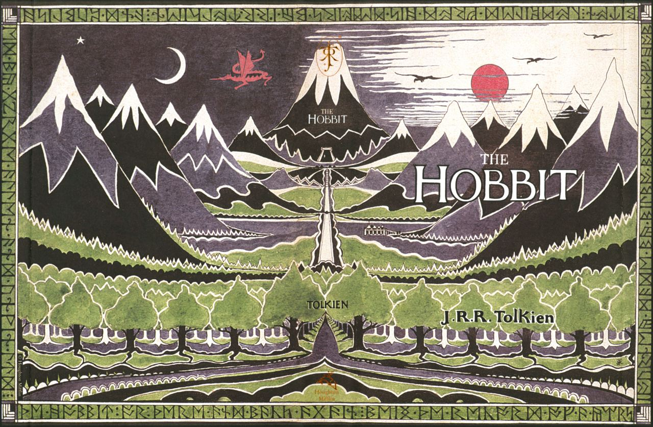 jrrtolkienmasterofmiddleearth:  Front and back cover art for The Hobbit by J.R.R. Tolkien.