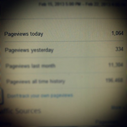 For the 1st time in my almost 2years of blogging I got over 1000 page views today. It's the little things! #bloggerlifestyle #blogging #views #blogger #pageviews