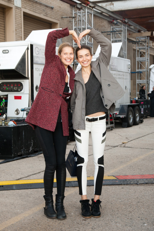 Toni and Andreea after Ralph Lauren FW13 today