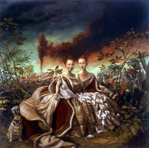 Julie Heffernan Self-Portrait as Two-Headed Queen 2000 Oil on canvas 77 x 78""