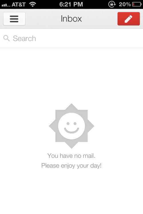 What do you call the opposite of a Screenshot of Despair? Thanks, Gmail app. I will.