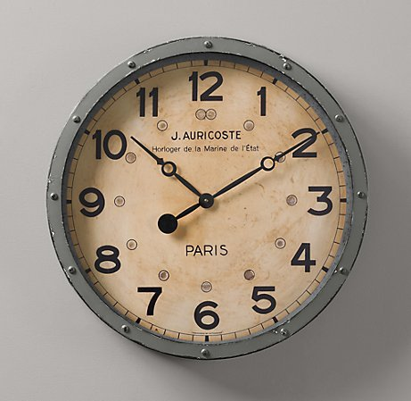 ryjohnson:  French Naval Clock | Accents | Restoration Hardware Baby & Child