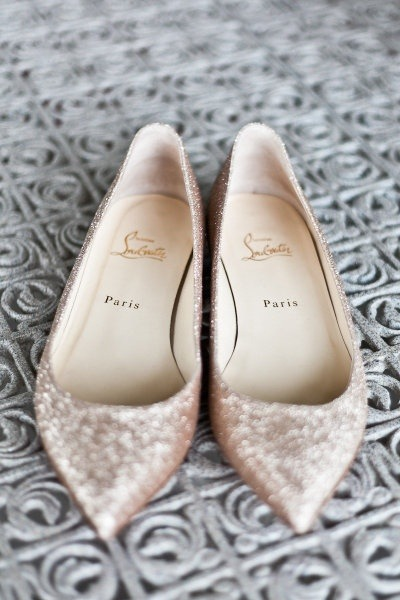 bride2be:  sparkly louboutin flats