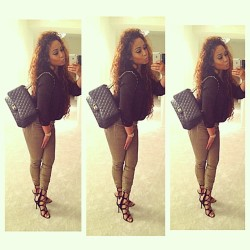 bad-af:  Heading to dinner 💋 - @alleyesonjordyc- #webstagram http://bad-af.tumblr.com/
