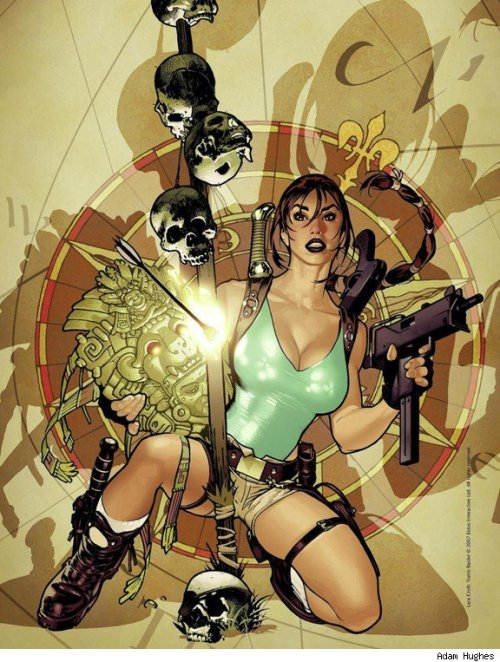 demonsee:  Tomb Raider by Adam Hughes