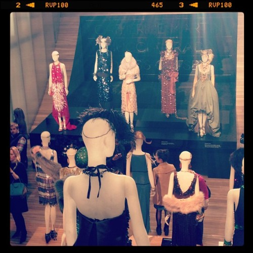 Prada has all the dresses from Great Gatsby on display!! Amazing. #NYC