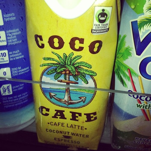 Damn it! I thought of this like a year ago. #coffee #coconutwater #healthy