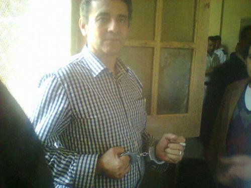 comicsreporter:  magdy l shafee was arrested in cairo last night; from his facebook account; photo by Sameh Samir