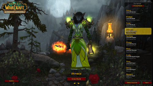 tamealltherares:  Who says I have to look like a hobo while leveling? AIN'T NOBODY GOT TIME FOR THAT. Vicious Gladiator's Felweave Amice Hibernal Robe Windwool Bracers Wooly Goat Punchers Vicious Gladiator's Cord of Accuracy Weapon/offhand is a work in progress, since Ultimecia hasn't actually entered Pandaria yet and I want to get a quest reward weapon to transmog first.  Power Torrent =/= nice transmogging. Warlock only, due to shoulders.