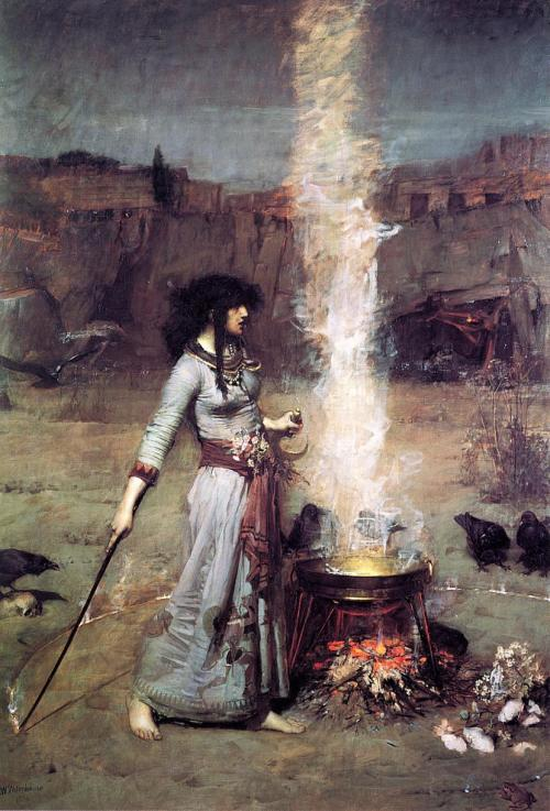 arthistorianmindswirls:  John William Waterhouse, The Magic Circle.