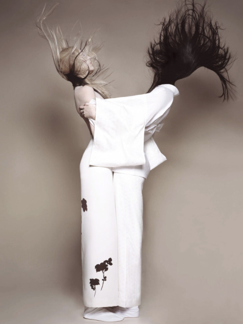 blastingagent:  Sui He And Soo Joo shot by Brigitte Niedermair For CR Fashion Book March 2013