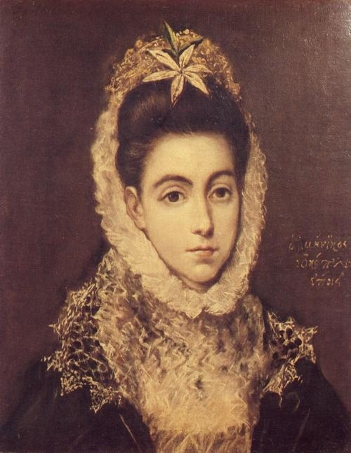 psychotic-art:  Lady with a Flower in Her Hair - El Greco