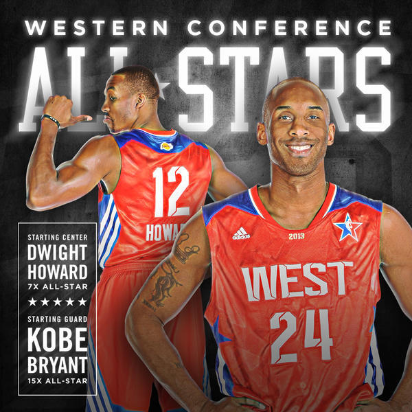 Kobe Bryant - .@kobebryant & @DwightHoward will start for the Western Conference @NBAAllStar in Hous