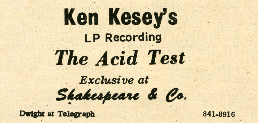 The Acid Test (1966) Acid-laced interviews & conversations on record