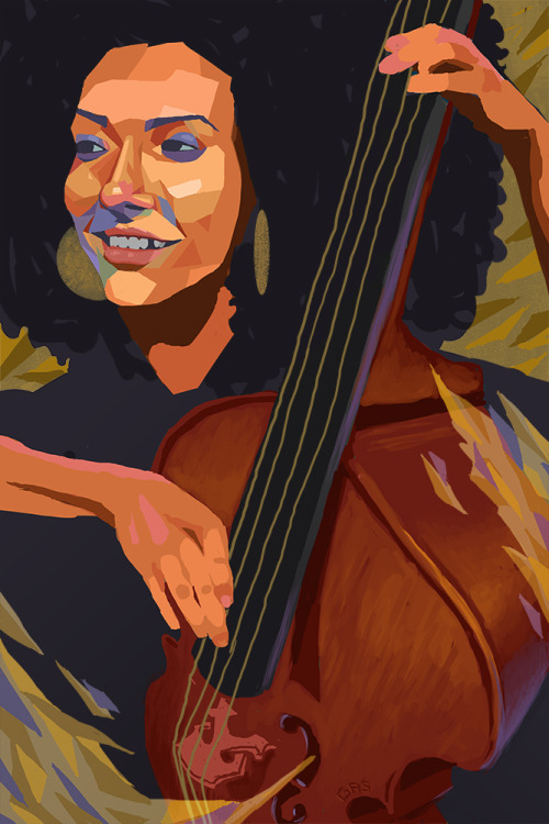 """Instrument of expression"", Esperanza Spalding. One of my heroes. Done in photoshop."