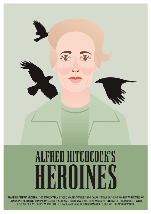 The Birds Hitchcock's heroines designed by farfetch.com Submitted by Geek Overture
