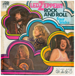 "Led Zeppelin ""Rock And Roll"" / ""Four Sticks"" Single - Atlantic Records, Germany (1972)."