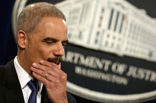 "US Attorney General Eric Holder described the leak which prompted the investigation into the Associated Press' phone records as one of the most threatening he'd seen since he took up his post in 1976. ""That is not hyperbole,"" Holder said. ""It put the American people at risk."""