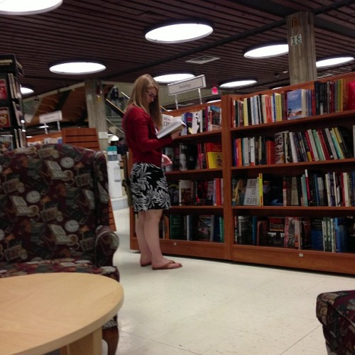 Checking out the bookstore (at University of Alberta Bookstore (SUB))