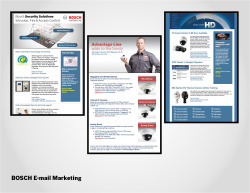 Bosch E-mail Marketing in Constant Contact