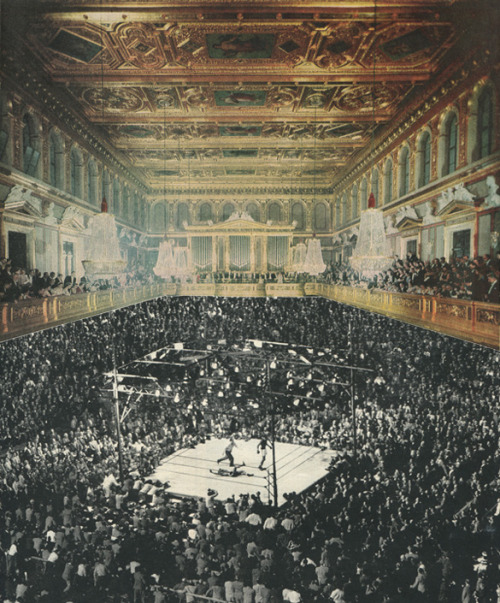 sammyslabbinck:  ' Boxing in Vienna ' Collage on paper © Sammy Slabbinck 2013 porfolio /  society6.com / facebook / flickr