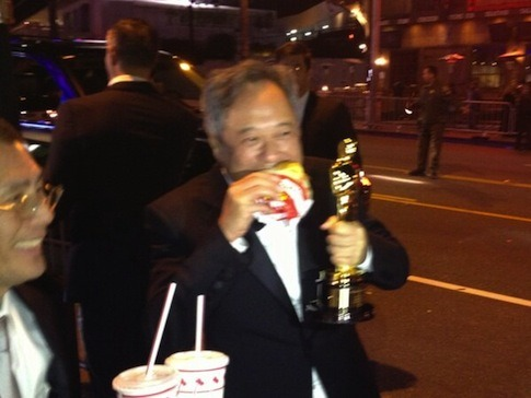 Ang Lee stopped off at In-N-Out. so much win.