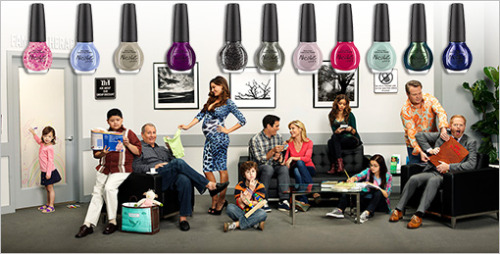 "Bizarre news of the day: OPI is releasing a Modern Family-themed nail polish collection. It includes colors with these titles, which we did not make up: ""Am I Making Myself Claire"" ""My Jay or the Highway"" ""Stand By Your Manny"" ""Luke of the Draw"" ""A Phil's Paradise"" ""What's the Mitch-uation"""