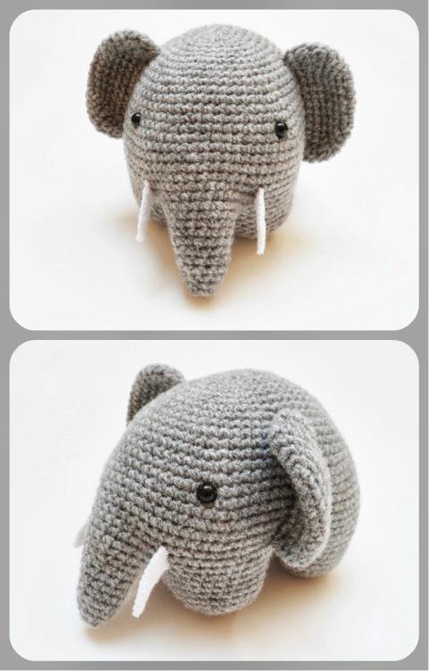 crocheted elephant Tumblr