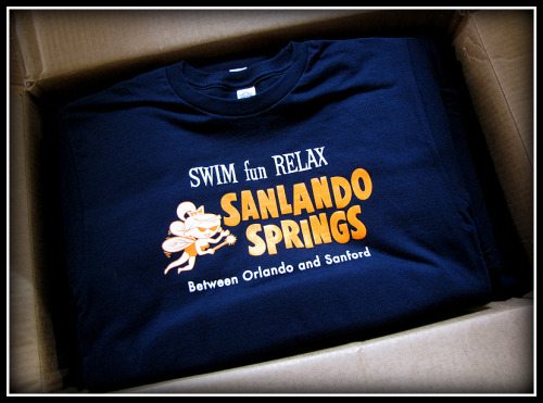 Sanlando Springs - the latest Vintage Roadside t-shirt celebrating roadside history. Available on our website here.