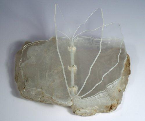 ancanstore: Foliation by Suze Woolf. Crystallite Selenite cover, laser-cut acrylic sheets, linen thread 🦋https://www.instagram.com/p/B6iYNmVn19_/?igshid=3z1npng8ktw9 #art
