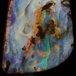 themaniamania:  Water content gives opal its rainbow of colour #magicofnature #prettycolours
