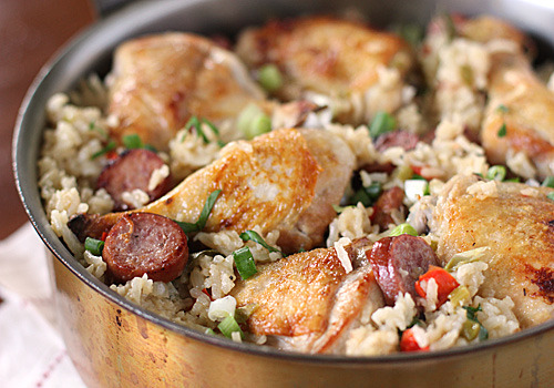 in-my-mouth:  Cajun Chicken and Sausage Jambalaya