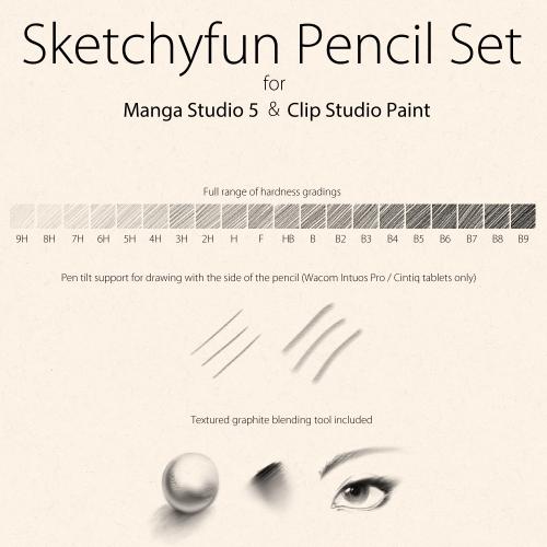 Manga Studio clip studio brushes pencils
