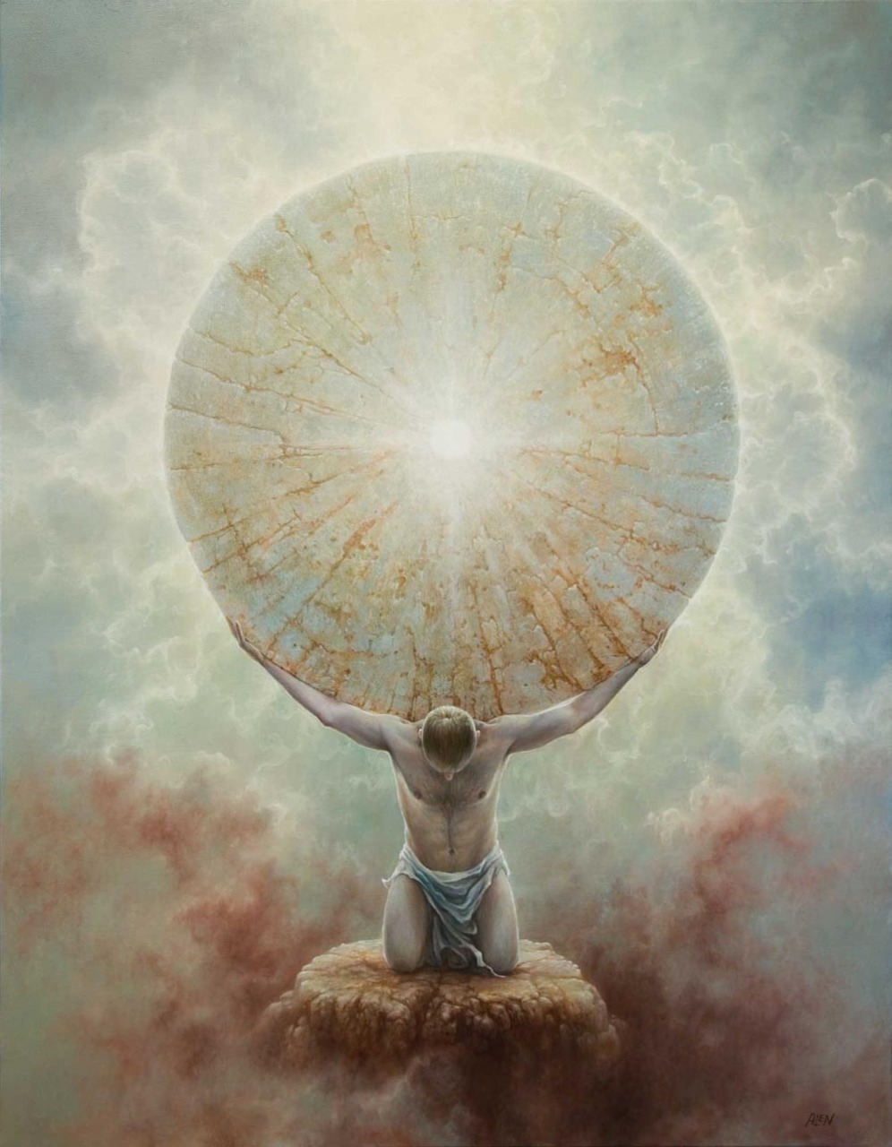 Atlas holding up the heavens