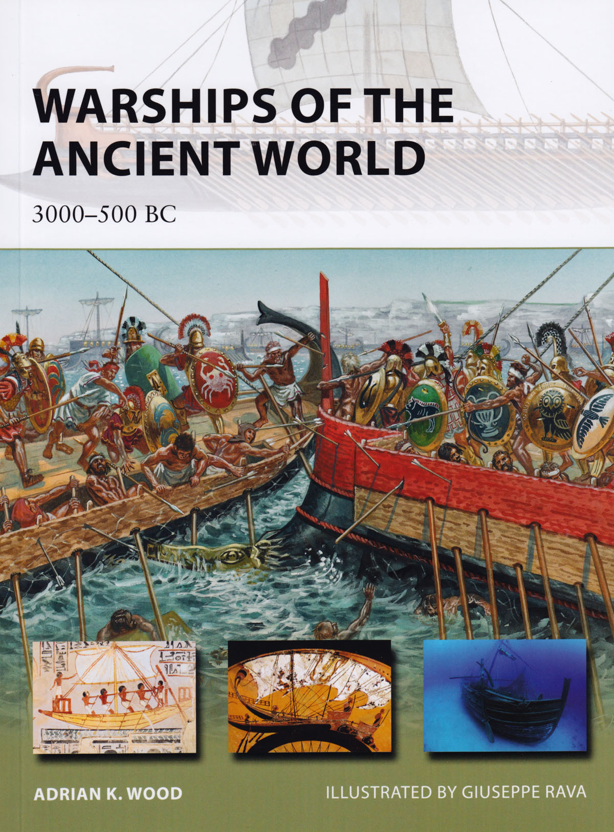 BOOK REVIEW – Warships of the Ancient World, 3000 – 500 BC  Written by Adrian K. Wood and Illustrated by Giuseppe Rava.  Osprey Publishing, Ltd., Long Island City, NY. (2012) Reviewed by John R. Satterfield, DBA. Writing about human activities in the Bronze and early Iron Ages is a daunting task. Evidence from these eras is fragmentary at best, like a jigsaw puzzle with far more pieces missing than available. Focused examinations on specific topics must rely on even sketchier resources. Earliest examples of writing or illustrations that survive are typically clay tablets or inscriptions on monuments or buildings, and nearly all of these artifacts are remnants. (read the full review)