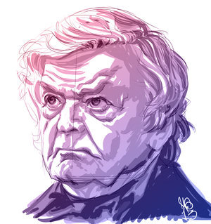 Hal Holbrook by http://bit.ly/17c0SUI  A quick study I did of actor Hal Holbrook in Lincoln.