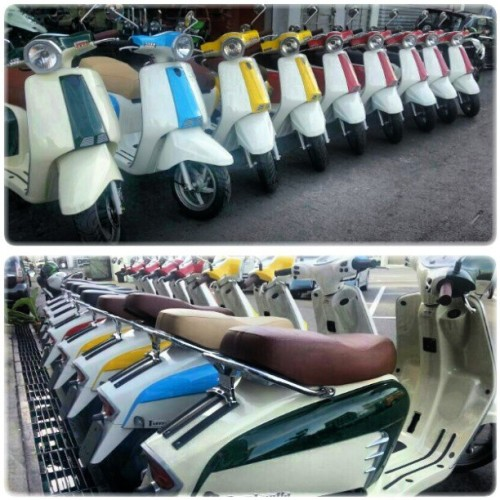 Temptation of the day: Lambretta Scooters. #giwrides #scooter #lambretta  (at Pusat Bandar)