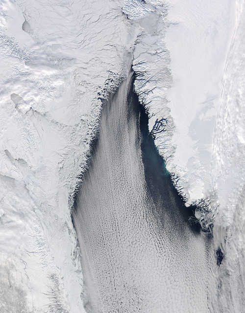 antarctics:  Cloud streets in Davis Strait by NASA Goddard Photo and Video on Flickr.