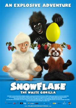 New releases: Snowflake, the white gorilla releasing 24th January at VOX Cinemas Mirdif City Centre, Mall of the Emirates and Marina Mall - Abu Dhabi   Stars : Elsa Pataky, Benjamin Nathan – Serio and Constantino Romero Genre : Animation/Adventure/Comedy Director : Andres G. Schaer Trailer link : http://www.youtube.com.watch?v=415lWhZAwLc  Snowflake is special; he's the only white gorilla in the world. He is the zoo's main attraction, children love him, but the other gorillas don't see what's so charming about this weirdo being the center of attention. With the help of Ailur, a Buddhist black panther reincarnated into the body of a red panda, and Paula, a smart little girl, Snowflake plans a sneak visit to the witch at the circus. She can help him be a normal gorilla. But outside the safety of the zoo's walls, the three friends are in danger. Thomas, a total jinx, is convinced that the white gorilla is the amulet he needs to counter his bad luck. This cruel and superstitious man is prepared to do whatever it takes to capture Snowflake.