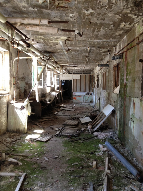 destroyed-and-abandoned:  Abandoned sanatorium in Québec. . Source: Math1988 (reddit)
