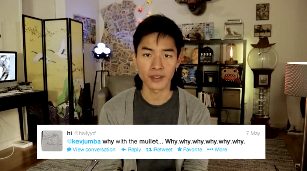 KevJumba is back! YAY! And with a mullet? Uhm, okay….Find out why in his latest video!