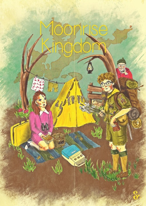 eatsleepdraw:  http://www.behance.net/dilemserbest moonrise kingdom was our topic of the week http://nineler.tumblr.com/