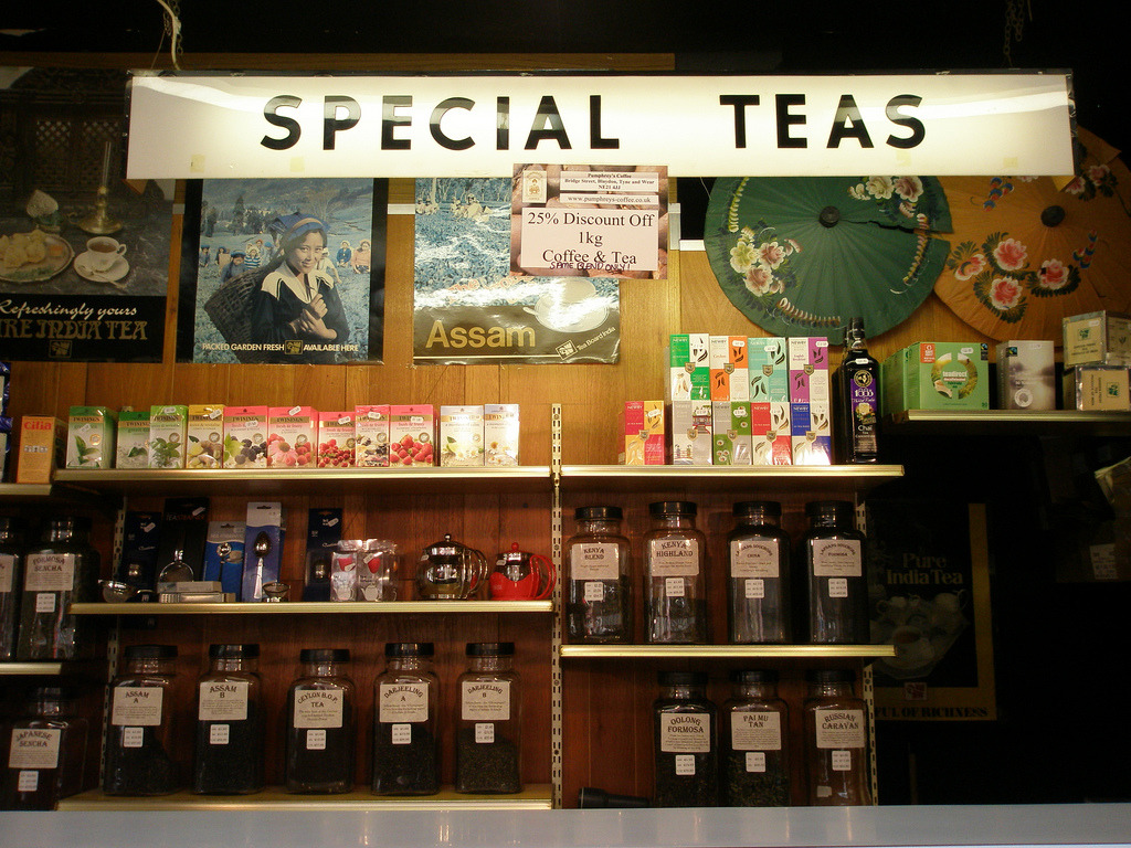 Special teas, Grainger Market, Newcastle-upon-Tyne
