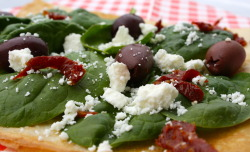 Oswald West - Feta cheese, sundried tomatoes, kalamata olives, spinach