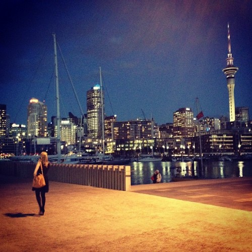 Auckland Viaduct at dusk (at Viaduct Events Centre)