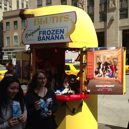 There's always money in the banana stand #arresteddevelopment #season4 #frozenbanana  (at Bluth's Frozen Banana Stand)